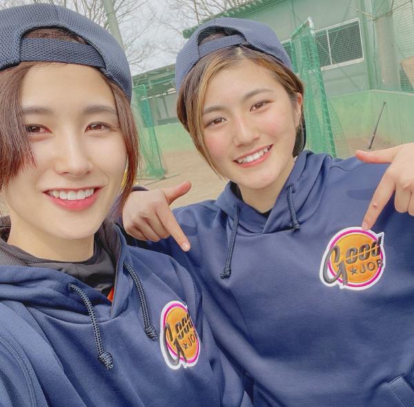 GOODJOB女子硬式野球部 加藤 優・岡田 桃香