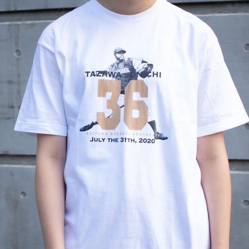 田澤純一選手 オリジナル記念Tシャツ(ホワイト)【数量限定】